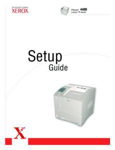 Setup. Guide. Laser Printer