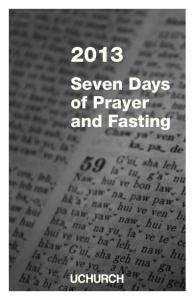 Seven Days of Prayer and Fasting