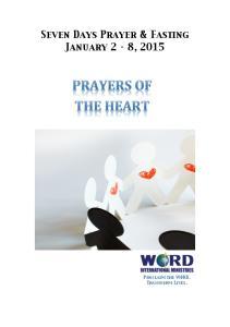 Seven Days Prayer & Fasting January 2 8, 2015