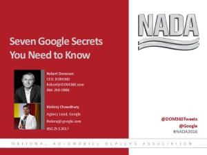 Seven Google Secrets You Need to Know