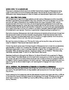 SEVEN KEYS TO SHAKESPEARE