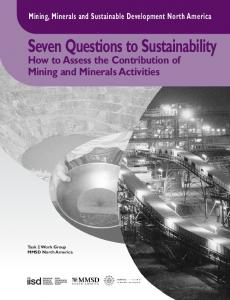 Seven Questions to Sustainability