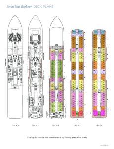 Seven Seas Explorer DECK PLANS
