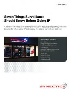 Seven Things Surveillance Should Know Before Going IP