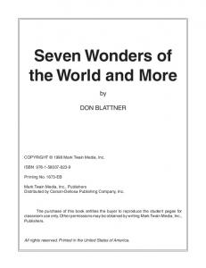 Seven Wonders of the World and More