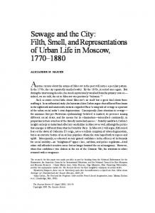 Sewage and the City: Filth, Smell, and Representations of Urban Life in Moscow,
