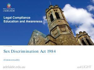 Sex Discrimination Act 1984