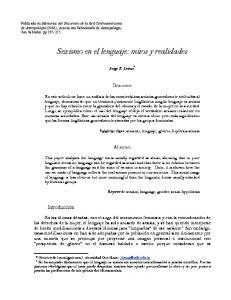 Sexismo en el lenguaje: mitos y realidades
