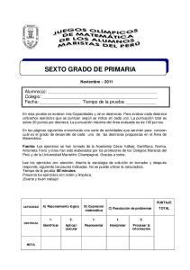 SEXTO GRADO DE PRIMARIA