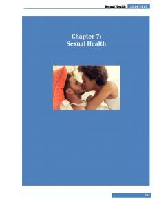 Sexual Health Chapter 7: Sexual Health