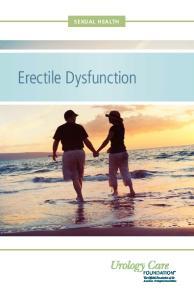 SEXUAL HEALTH. Erectile Dysfunction