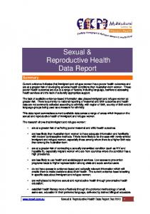Sexual & Reproductive Health Data Report