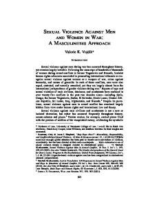 SEXUAL VIOLENCE AGAINST MEN