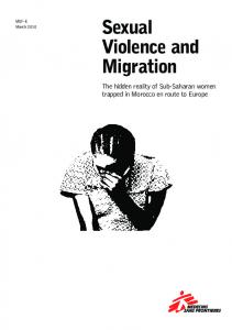 Sexual Violence and Migration