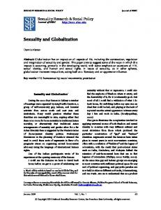 Sexuality and Globalization