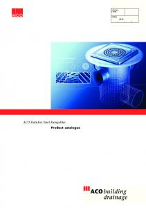 SfB (52.6) ACO Stainless Steel Eurogullies Product catalogue