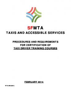SFMTA TAXIS AND ACCESSIBLE SERVICES