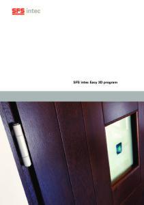 SFS intec Easy 3D program