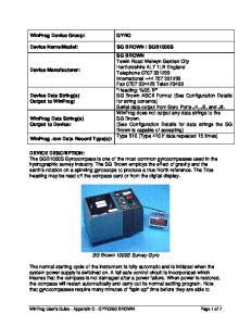 SG Brown 1000S Survey Gyro
