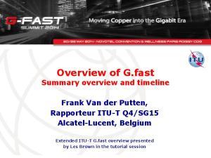 SG15 Alcatel-Lucent, Belgium