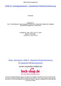 SGB VI Sozialgesetzbuch - Gesetzliche Rentenversicherung