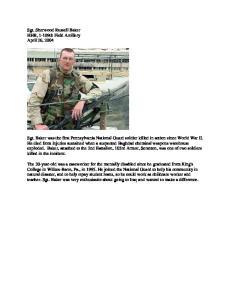 Sgt. Sherwood Russell Baker HHB, 1-109th Field Artillery April 26, 2004