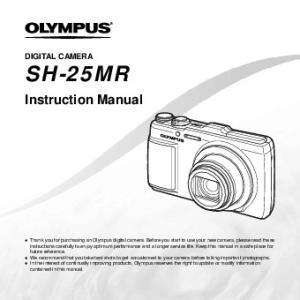 SH-25MR. Instruction Manual DIGITAL CAMERA