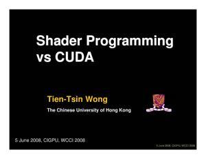 Shader Programming vs CUDA