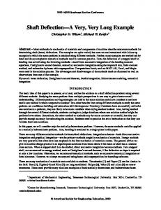 Shaft Deflection A Very, Very Long Example