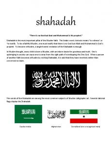 shahadah There is no God but God and Muhammad is his prophet