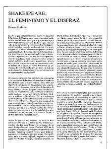 SHAKESPEARE, EL FEMINISMO Y EL DISFRAZ