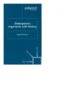 Shakespeare s Arguments with History