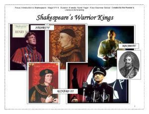 Shakespeare s Warrior Kings