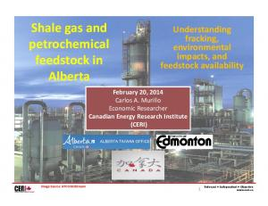 Shale gas and petrochemical feedstock in Alberta