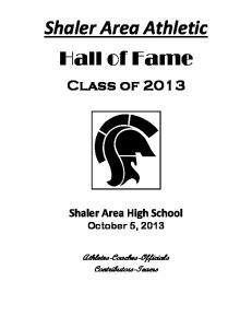 Shaler Area Athletic Hall of Fame