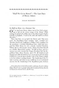 Shall We Go to Rome? The Last Days of Henry Adams