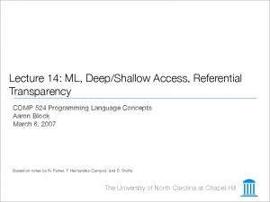 Shallow Access, Referential Transparency