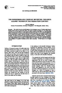 SHAME COMPLEX REVISITED: VIOLENCE AGAINST WOMEN IN THE MIGRATION CONTEXT