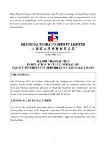 SHANGHAI ZENDAI PROPERTY LIMITED