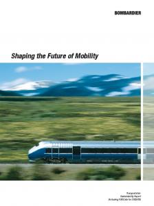 Shaping the Future of Mobility
