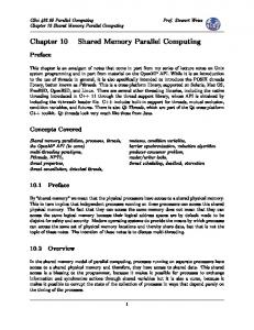 Shared Memory Parallel Computing