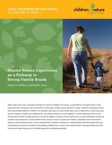 Shared Nature Experience as a Pathway to Strong Family Bonds