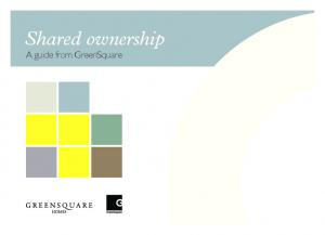 Shared ownership. A guide from GreenSquare