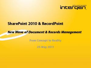SharePoint 2010 & RecordPoint