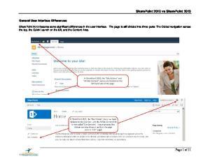 SharePoint 2010 vs SharePoint 2013
