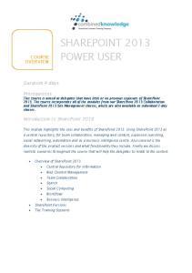SHAREPOINT 2013 POWER USER