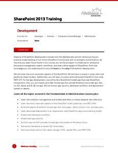 SharePoint 2013 Training