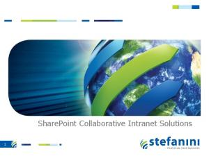 SharePoint Collaborative Intranet Solutions