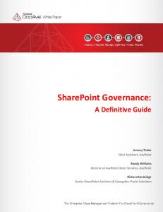 SharePoint Governance: