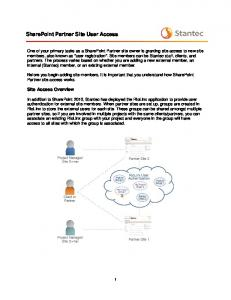SharePoint Partner Site User Access